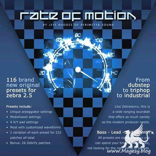 Rate Of Motion for ZEBRA 2.5